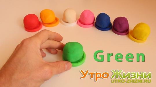 Играй и изучай цвета с Play Doh.